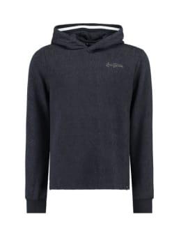garcia hoodie met print j92662 donkerblauw