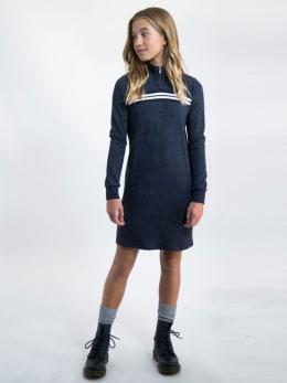 garcia jurk met slangenprint j92683 blauw