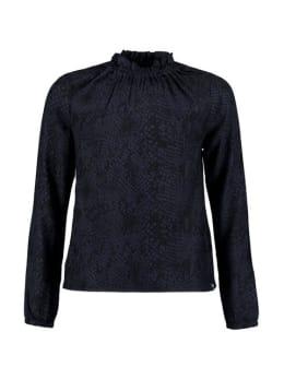 garcia blouse met allover print pg921101 blauw