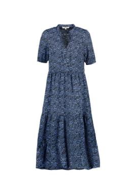 garcia midi jurk blauw pg000503