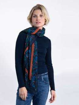 garcia sjaal met print j90330 blauw