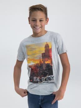 garcia t-shirt met opdruk n03602 grijs