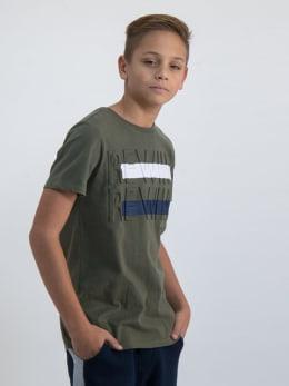 garcia t-shirt met opdruk o03408 groen