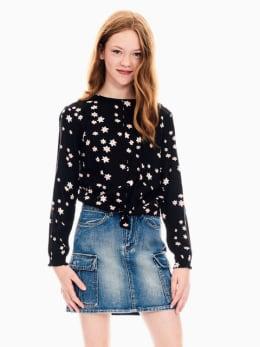 garcia blouse zwart s02431