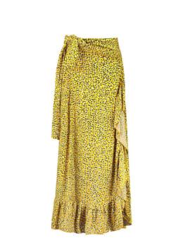 garcia rok met ruffles e90120 geel