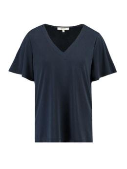 garcia t-shirt met v-hals h90204 donkerblauw