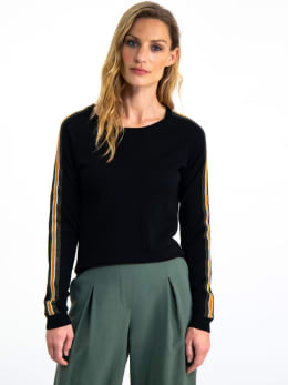garcia trui met streep i90049 zwart