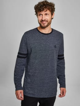 chief long sleeve met strepen pc910722 zwart
