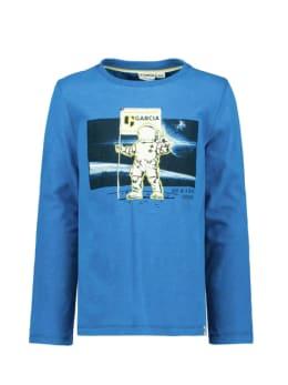 garcia t-shirt blauw t05601
