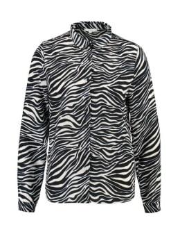 YEZZ Blouse Zebra PY900303 Zwart