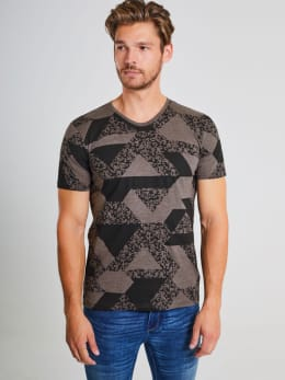 chief t-shirt met allover print pc910704 grijs