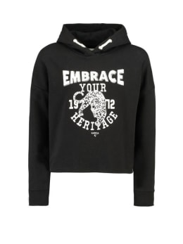 garcia hoodie met opdruk g92460 zwart