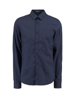 garcia overhemd met stipjes I91026 blauw