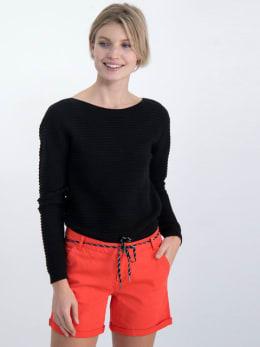 garcia geribbelde trui gs000142 zwart