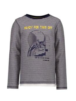 garcia t-shirt gestreept blauw t05602