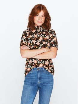 garcia t-shirt met col pg000303 zwart