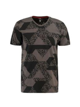 chief t-shirt met allover print pc910704 grijs