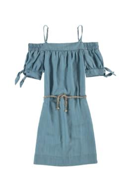 garcia off shoulder jurk o02488 blauw