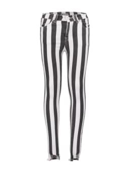 ltb lonia skinny striped black wash