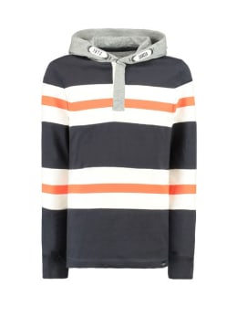 garcia hoodie g93468 gestreept blauw