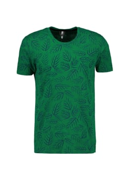chief t-shirt met allover print groen pc010403