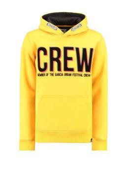 garcia hoodie met tekstprint i93460 geel