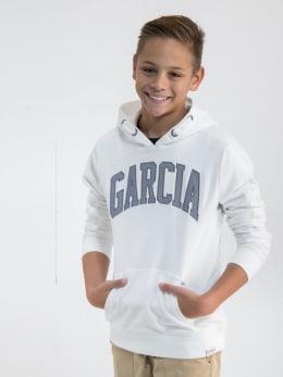 garcia hoodie met opdruk n03675 wit
