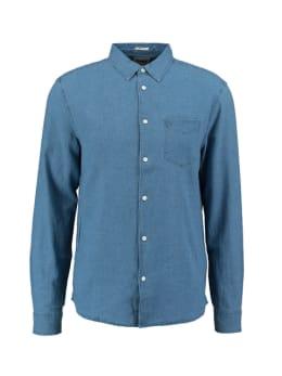 wrangler overhemd donkerblauw ls 1 pkt shirt