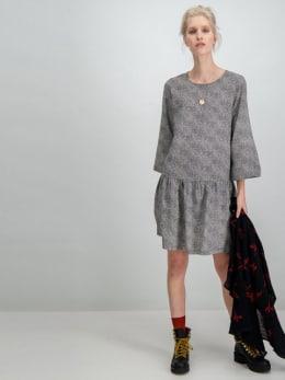 garcia jurk met allover print g90082 grijs