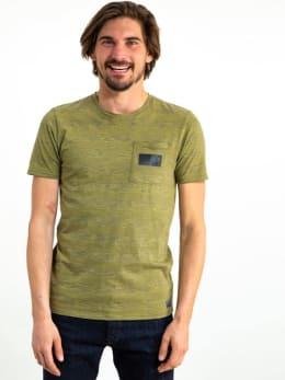 garcia gestreept t-shirt gs910700 groen