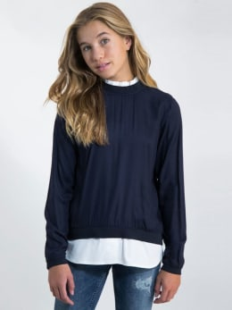 garcia blouse j92632 blauw