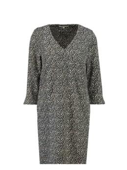 garcia panterprint jurk i90080 zwart