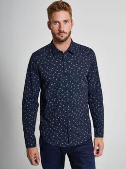 garcia overhemd met allover print I91034 blauw
