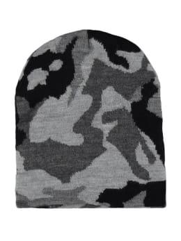 sarlini muts met legerprint zwart-grijs