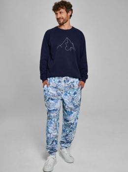 dedicated jogger met allover design blauw