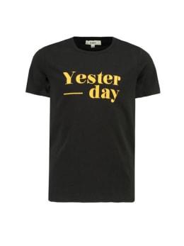 garcia t-shirt met tekst g92401 zwart