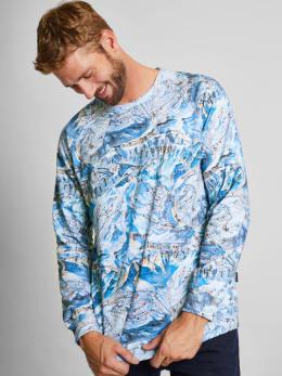 dedicated sweater met allover design blauw