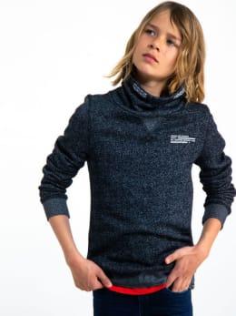 garcia sweater met col h93665 zwart