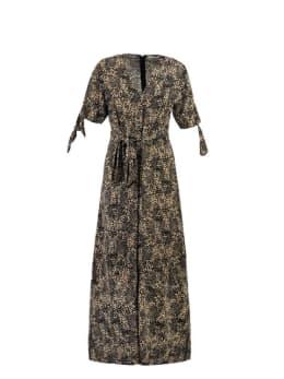 ambika jurk safae zwart bruin