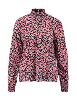 garcia blouse met panterprint pg000310 zwart