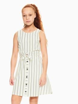 garcia jurk gestreept wit q02482