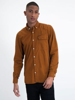 garcia overhemd l91031 oranje-bruin