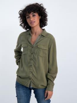 garcia utility blouse m00031 groen