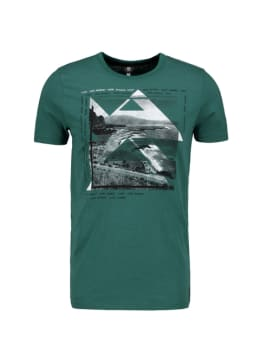 chief t-shirt met fotoprint groen pc010401