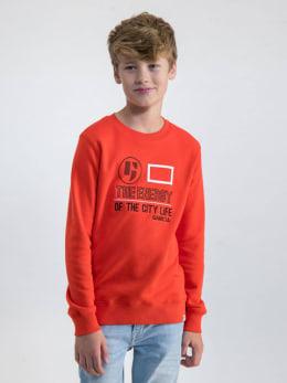 garcia sweater met opdruk n03660 rood