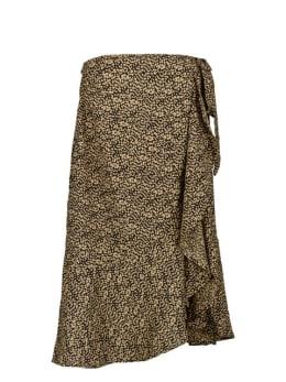 garcia overslag rok met stippen print bruin pg000404