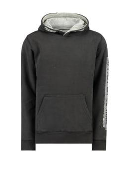 garcia hoodie met opdruk h93660 zwart