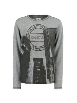 garcia t-shirt met fotoprint i93404 grijs