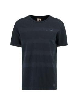 garcia t-shirt met reliëf g91011 blauw