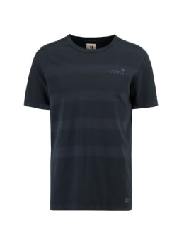 garcia gestreept t-shirt g91011 blauw